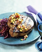 Grilled Pork Chop with Roasted Corn Salsa