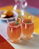 Ruby Red Chillers; Grapefruit and Lemon Juice with Sparkling Water