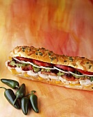 Submarine Sandwich with Jalapenos