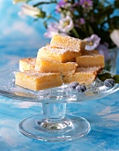 Lemon Bars on Pedestal Dish