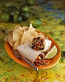 Southwestern Wrap with Tortilla Chips