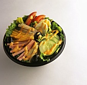 Chef Salad in Take Out Container