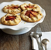 Mini Plum Galettes on Pedestal Dish