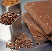 Chocolate Nibs, Bars and Cocoa Powder