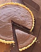 Sliced Chocolate Cream Pie