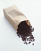 Coffee Beans Spilling from Paper Bag