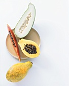 Exotic Fruit Slices and Halves; Papaya
