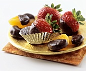 Chocolate Dipped Strawberries and Apricots