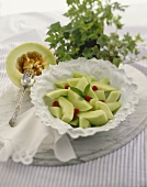 Honeydew Melon Salad with Raspberries