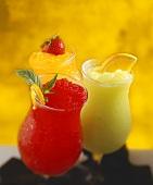 Three Frozen Fruity Cocktails