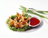 Deep Fried Wantons with Dipping Sauce