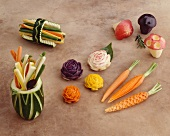 Asian Carved Vegetables