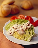 Iceberg Wedge Salad with Creamy Dressing and Tomatoes
