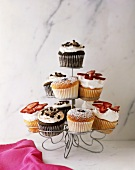 Cupcake Tree; Assorted Cupcakes on Cupcake Stand