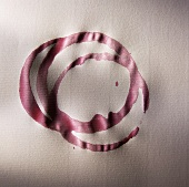 Red Wine Rings on a White Table Cloth