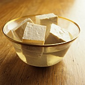 Tofu Cubes in a Bowl