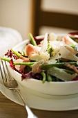 Bowl of Green Bean, Prosciutto and Parmesan Salad