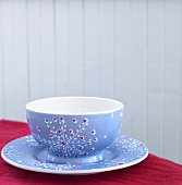 Pretty Blue Bowl on Matching Plate