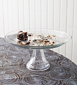 Mini Gingerbread Bundt Cake Remains on Pedestal Dish