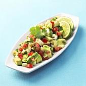 Avocado salad with lime juice