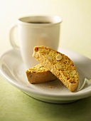 Cantucci e caffè (Almond biscotti with coffee, Italy)