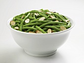 Bowl of Green Beans with Sliced Almonds