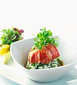Lobster Risotto with Peas and Pea Sprouts