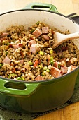 Hoppin John in a Dutch Oven