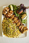 Cornish Hen Kabob with Barberry Rice from Persia