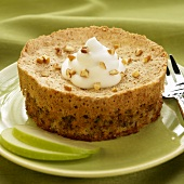 Huguenot Torte with Whipped Cream and Pecans