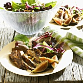 Barbecued Chicken Salad with Mesclun Greens and Figs