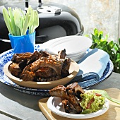 Barbecue Ribs; Outdoor; Grill