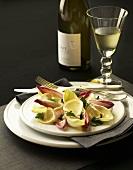 Lemon Chicory Salad; White Wine