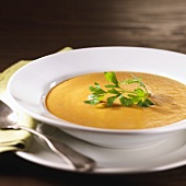 Bowl of Creamy Pumpkin Apple Soup