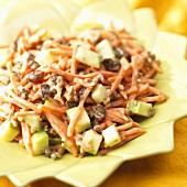Carrot Apple Raisin Salad with Nuts