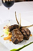 Grilled Lamb Chops Entree with Red Wine