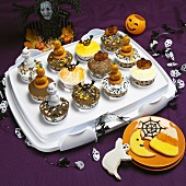 Festive Halloween Cupcakes and Cookies; Halloween Decorations