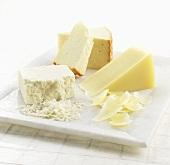Three Assorted White Cheeses