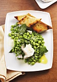 Lima Beans with Feta Cheese and Olive Oil; Bread