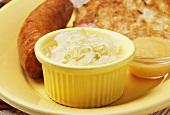 Sauerkraut with Sausage; Potato Pancake and Applesauce