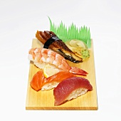 Assorted Japanese Foods on Board