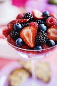 Mixed Berries in a Stem Glass