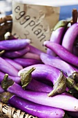 Asian Eggplants at a Farmer's Market