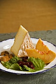 Cheese, Fruit and Nut Plate; With Vermont Cheese Wedge