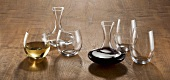 Red and White Wine Decanters and Glasses