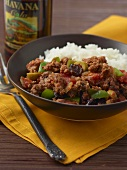 Cuban Picadillo with White Rice