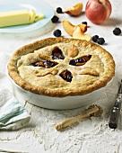 Deep Dish Blackberry and Peach Pie; Ingredients
