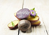 Heirloom Purple and Fingerling Potatoes