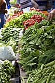 Market in Foca, Turkey