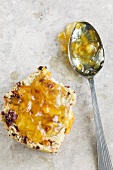 A scone with marmalade